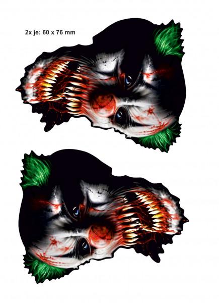 BIKE-label 400079 Aufkleber Sticker Horrorclown Joker Es