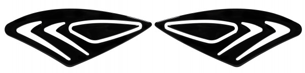 BIKE-label 800301 Seitentank Pad Black Schwarz kompatibel für Honda CBF 1000