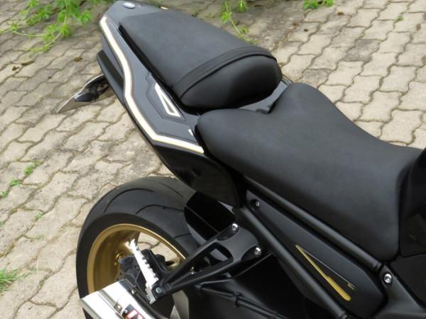 BIKE-label 550080 Deko Schutz-Aufkleber Gold-Black kompatibel für Yamaha FZ 800