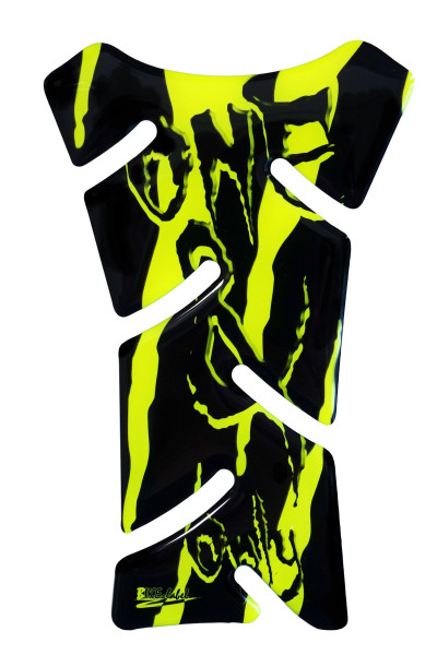BIKE-label 501798 mini Tankpad Motorrad Monster Aufkleber neon Gelb