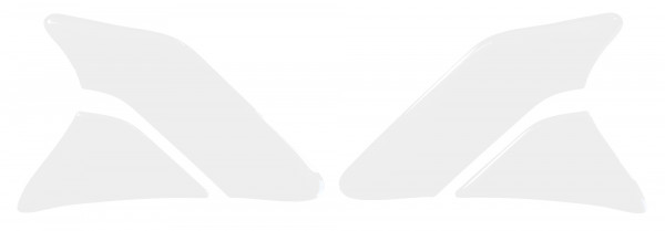 BIKE-label 800141 Seitentank Pad Motorrad Lackschutz Aufkleber Transparent