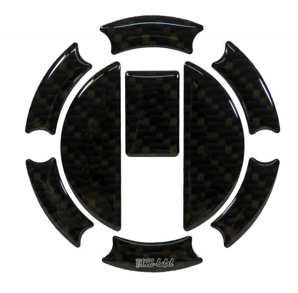 BIKE-label 650001 Tankdeckel Pad Carbon Braun universell kompatibel für Triumph