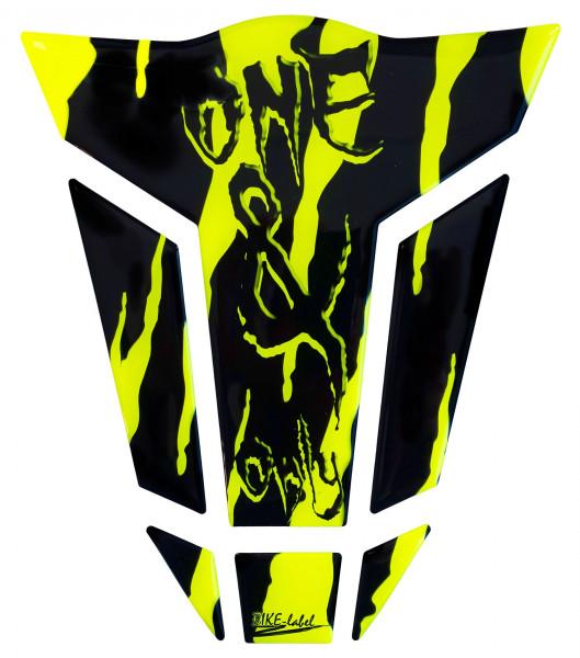 BIKE-label 501790 Tankpad Motorrad Monster Aufkleber neon Gelb