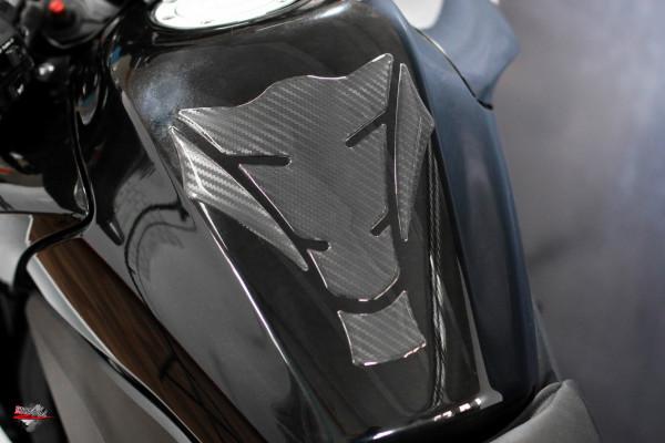 Tankpad Carbon Schwarz Optik *HIGHTECH Folie - sichtbare Struktur - Form 15
