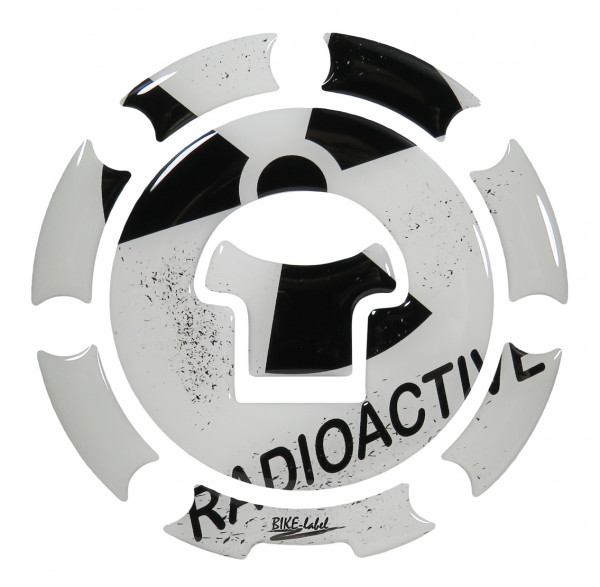 BIKE-label 600022 Tankdeckel Pad Radioaktiv Weiß universell kompatibel für Honda