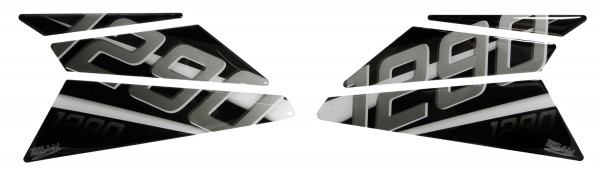 BIKE-label 800401 Seitentank Pad Silver kompatibel für KTM 1290 Super Duke GT