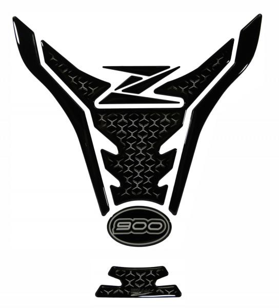 Tankpad Transparent Schwarz Motorrad Tankschutz Aufkleber kompatibel für Kawasaki Z900