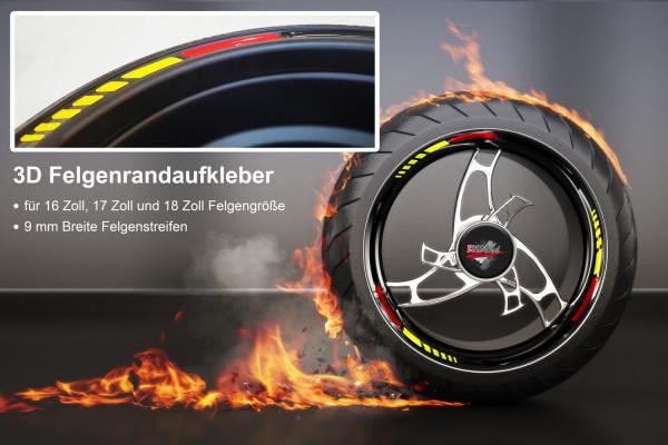BIKE-label 700000 3D Felgenrand Aufkleber Deutschland Flagge
