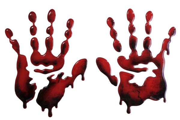 BIKE-label 800110 Seitentank Pad Motorrad Aufkleber Bloodhands blutige Hände