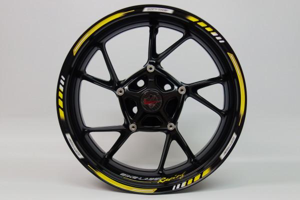 BIKE-label 710004 Felgenrand Aufkleber Racing 1000 Gelb
