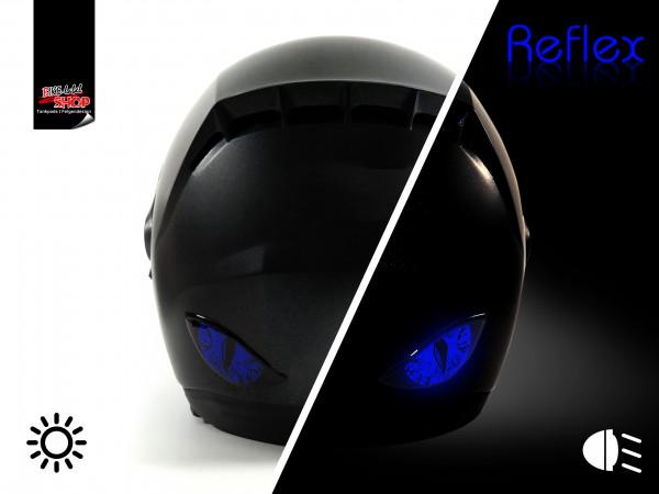 BIKE-label 910068 Deko Helm Aufkleber Böse Augen rückstrahlend reflex blau