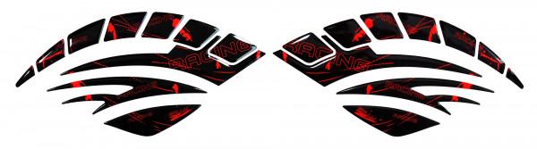 BIKE-label 800093 Seitentank Pad Motorrad Lackschutz Aufkleber Racing Neon Rot