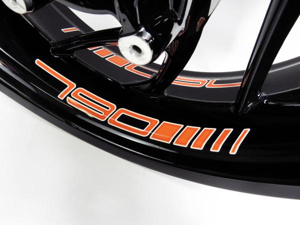 Felgenbett-Aufkleber - 790 Orange
