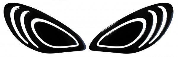 BIKE-label 800240 Seitentank Pad Schwarz Black kompatibel für Yamaha XSR 900
