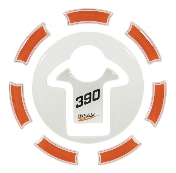 Tankdeckel-Pad Lackschutz Aufkleber passend für KTM 390 Duke - Styling Orange