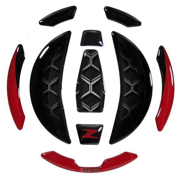Tankdeckel Pad Rot Schwarz Motorrad Schutz kompatibel für Kawasaki Z900