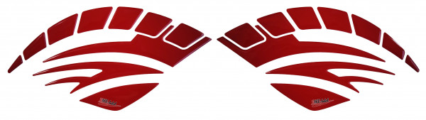 BIKE-label 810003 Seitentank Pad Motorrad Lackschutz Aufkleber Red Rot