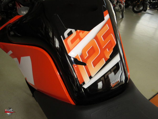 BIKE-label 502540 Tankpad Orange Stripes kompatibel für KTM 125 Duke