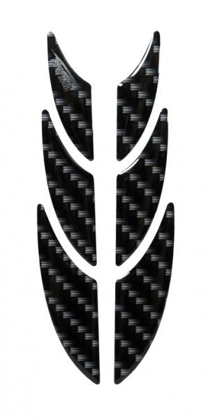 Dekor Protektorsticker Aufkleber Carbon-Optik Schwarz Black Druck Kratzschutz