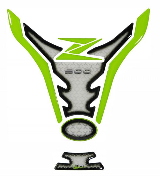 Tankpad Grün Weiß Motorrad Tankschutz Aufkleber kompatibel für Kawasaki Z900