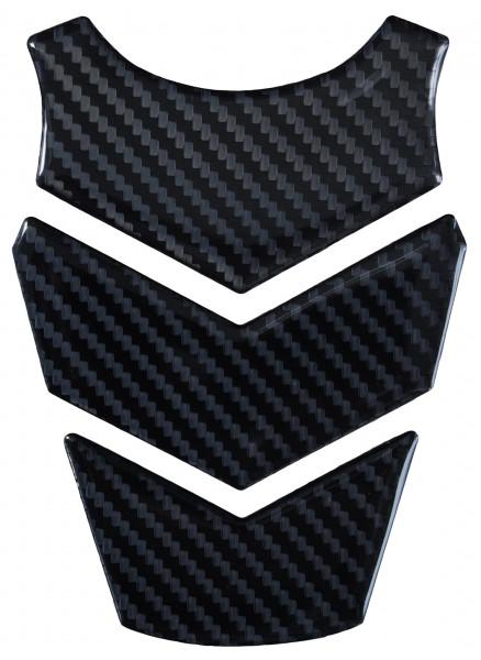 BIKE-label 501961 mini Tankpad Motorrad Aufkleber Carbon Schwarz Optik