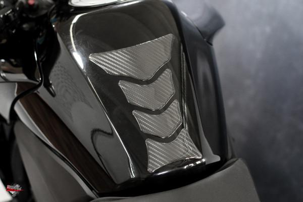 Tankpad Carbon Schwarz Optik *HIGHTECH Folie - sichtbare Struktur - Form 12