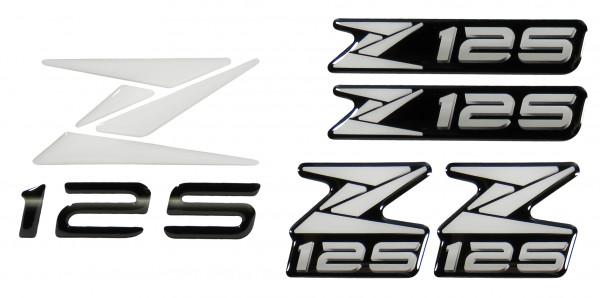 3D-Logo-Aufkleber Emblem Weiß Badge White Sticker kompatibel für Kawasaki Z125